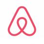 Het logo van AirBnB